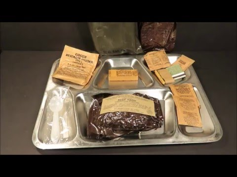 LRP 1977 Beef Hash Long Range Patrol Ration MRE Review Military Eaten Oldest Food