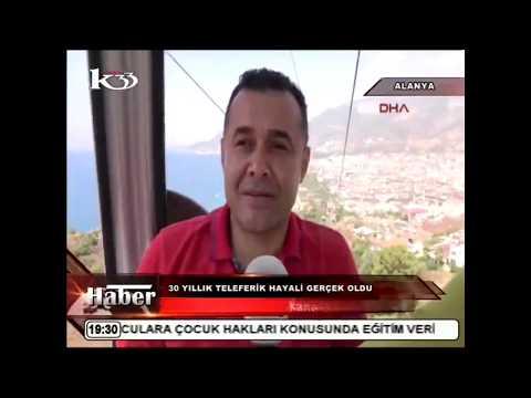 TARİHİ ALANYA TELEFERİK HABERİMİZ KANAL 33'TE