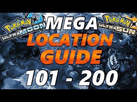 Pokémon Ultra Sun and Moon: Location Guide Pokemon 101 - 200