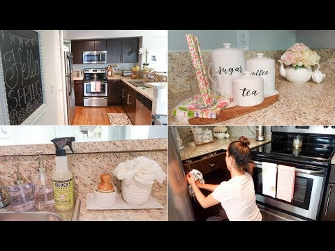 Cleaning Entire Kitchen | New Cleaning & Decor Items |