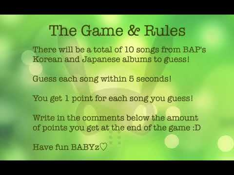 B.A.P Guess The Song Game #1