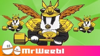 Save The Badger Badger Badger : animated music video : MrWeebl