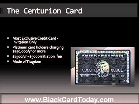 American Express Black Card Centurion Youtube