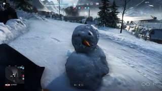 BATTLEFIELD 5 Open BETA | We build a snowman (2018) 1080p
