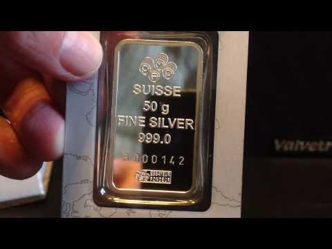 Silver Unboxing: 50 Gram Pamp Suisse Silver Bar from APMEX