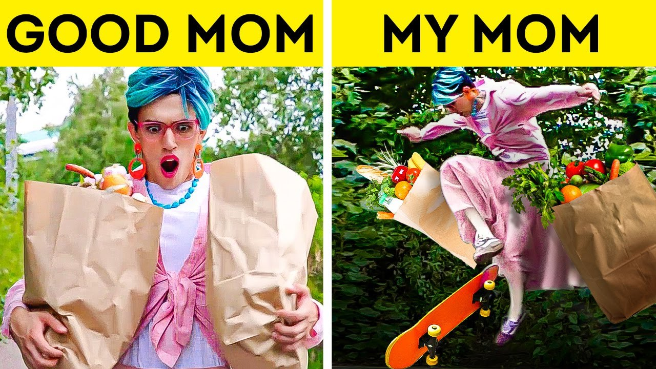 ME vs MOM 👩👧 What Your Parents See VS What You Actually Do