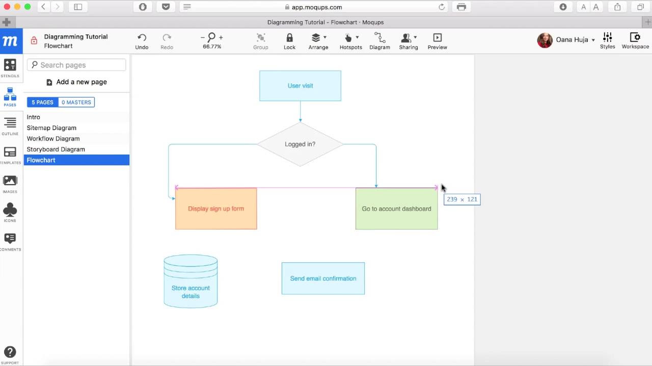 Drawing diagrams in pages - Moqups The Blog A Streamlined Web App That Helps You Create And Collaborate On Wireframes Mockups Diagrams And Prototypes