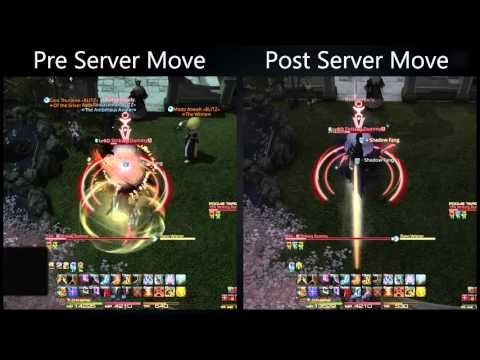 Visual comparison of latency from EU to data centres : ffxiv
