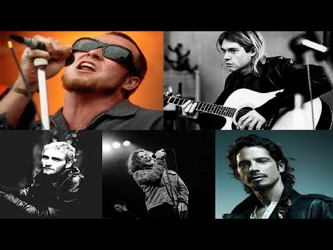 Kurt Cobain VS Chris Cornell VS Eddie Vedder VS Layne Staley VS Scott Weiland (Grunge Vocal battle)