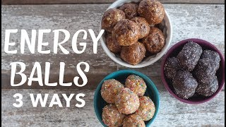 HEALTHY NO-BAKE ENERGY BITES | 3 Ways | Chocolate Chip | Blueberry | Birthday Cake | The Edgy Veg