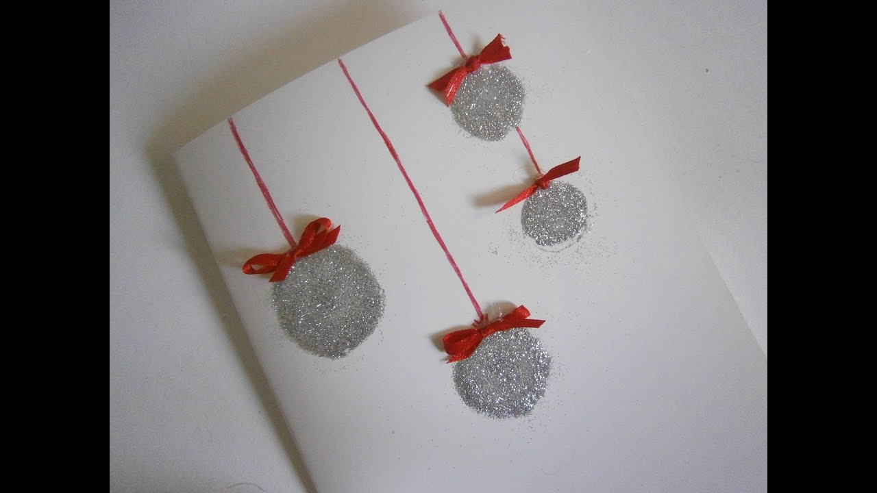 how to make a glitter christmas card christmas diy