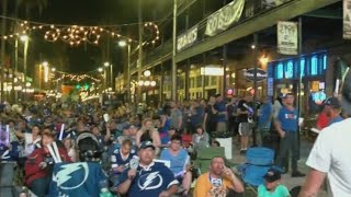 Tampa Bay Lightning fans take to Ybor City for watch party