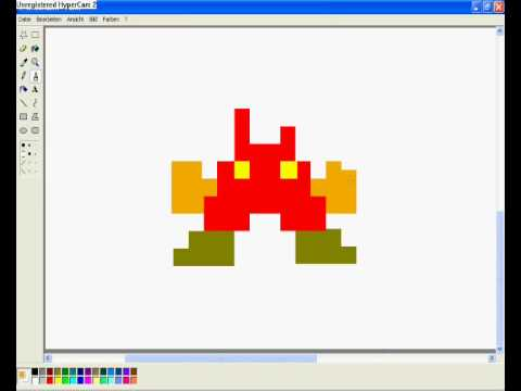how to draw 8 bit mario in ms paint