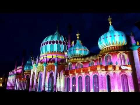 The Dr Blighty Pavilion Projection 26.05.16 - Brighton Royal Pavillion, E.Sussex. England.