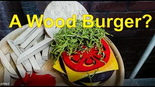 Woodturning - From Scrap to a Cheeseburger Platter...Yes!