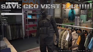 SAVE THE BLACK CEO VEST AFTER PATCH 1.42!!!!! GTA 5 ONLINE!