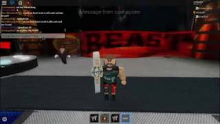 WWE Roblox Smackdown live: Brock Lesnar invades smackdown and f5s finn balor