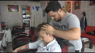 ASMR Turkish Barber Face,Head and Body Massage 167