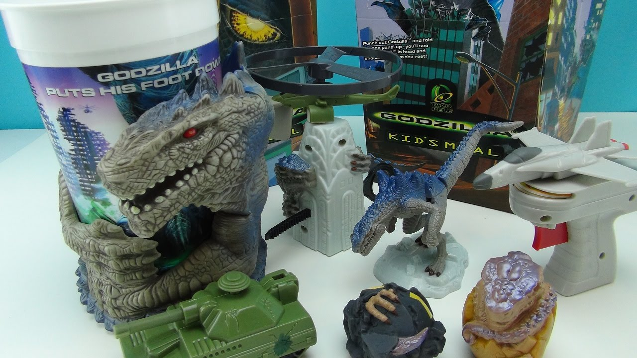 GODZILLA MOVIE 1998 TACO BELL KID;S MEAL TOY COLLECTION ...