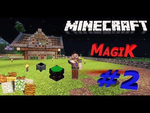 🔮[Minecraft Magic]🔮Серия #2🎩крутой новый сервере - первая магия огня 🔥