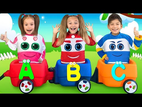 Sasha plays with Choo Choo Wagon Train and Learn Abc Alphabet with Toys