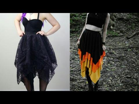 Hanky/Rumal cut long skirt drafting, cutting and...
