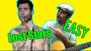How To Play - Lost Stars by Adam Levine - Acoustic Guitar Lesson - Beginner Song For Guitar Mp3