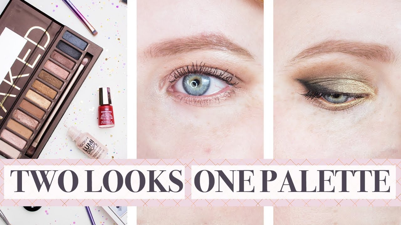 2 LOOKS 1 PALETTE   Day & Night Tutorial ft Urban Decay Naked Palette - YouTube