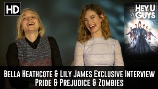 Bella Heathcote & Lily James Exclusive Interview - Pride & Prejudice & Zombies