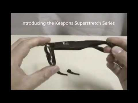 Putting on the Keepons Superstretch Black Eyewear Retainer