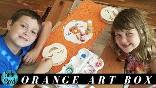 Kids Creations - Sept Orange Art Box - Emoji