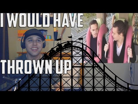 ONE DIRECTION ON ROLLER COASTER WHILE BEING INTERVIEWED (REACTION)