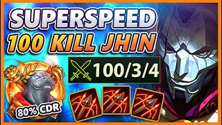 100 KILLS IN ONE GAME (2,492 MOVESPEED JHIN) - BunnyFuFuu | League of Legends