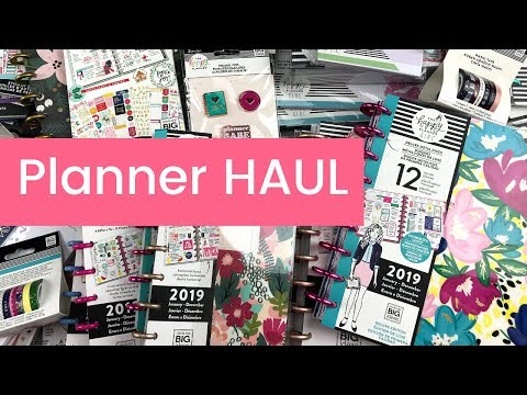 The Happy Planner Haul | NEW 2019