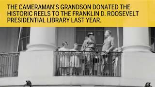 See rare video footage of Franklin D. Roosevelt walking