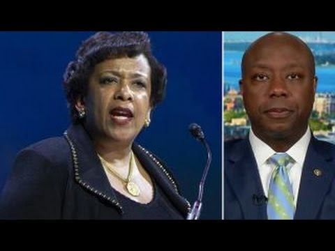"Sen. Tim Scott blasts ""unethical"" Lynch-Clinton meeting"
