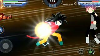 Chơi game 7 viên ngọc rồng siêu cấp - tập 19   Super Xayda Hồng vs Goku Cấp 4