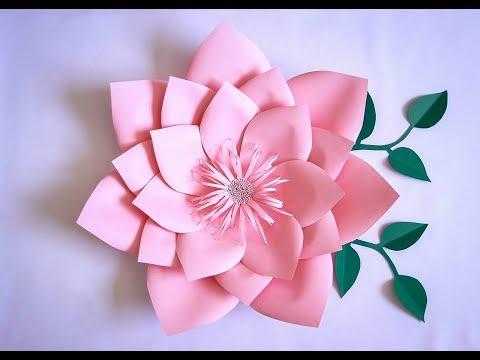 Flores De Papel Grandes Para Decorar