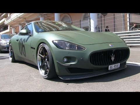 LOUD CUSTOM ARMY GREEN MASERATI GRANTURISMO IN MONACO!