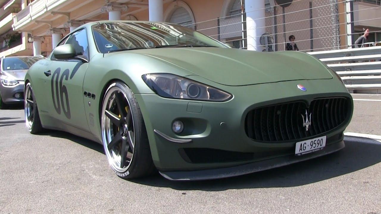 Loud Custom Army Green Maserati Granturismo In Monaco