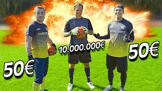 50€ vs 10.000.000€ Goalkeeper Battle - Youtuber vs Pro