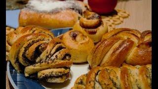Ну очень красивые булочки с маком, корицей, вареньем, 6 видов форм булочек(Сдобное тесто для булочек на моем же канале и именно по нему я и делаю. https://www.youtube.com/watch?v=AEqDzQ2Fq4k Просто быст..., 2015-12-20T19:58:17.000Z)