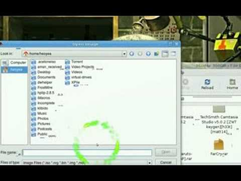 Mount ISO NRG BIN MDF IMG AcetoneISO2 - Ubuntu Linux 8 04
