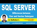 Differences between Char and Varchar Datatypes |  MSSQL Training