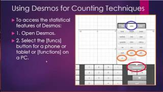 Using Desmos to Calculate Permutations and Combinations