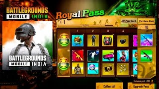 BATTLEGROUND MOBILE INDIA  ||NEW SEASON || RP LOOK/TIER  REWARD
