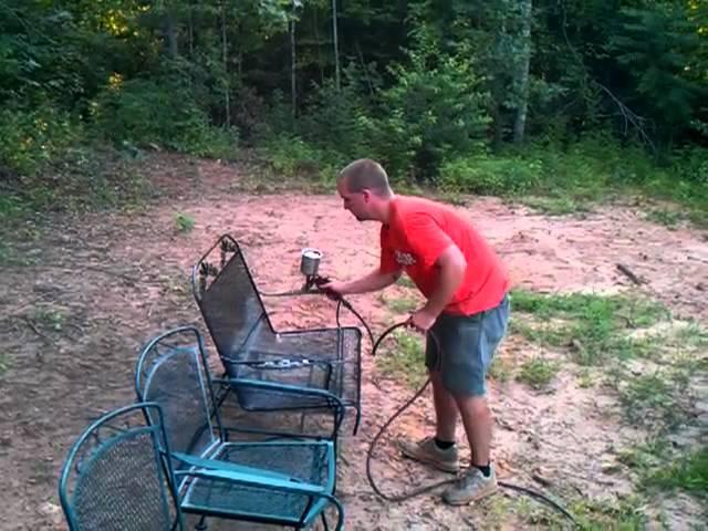refinishing wrought iron patio