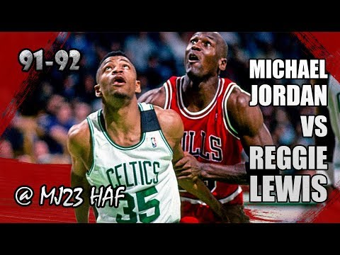 Michael Jordan vs Reggie Lewis Highlights Bulls vs Celtics (1992.04.05)-47pts in all!CAN HE STOP MJ?