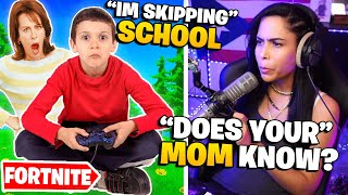 This Kid SKIPPED SCHOOL to play Fortnite? - Chica