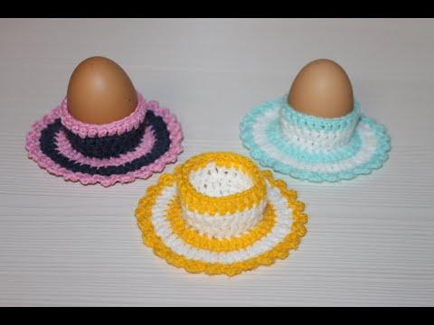 Вязаные подставки для яиц крючком к пасхе схема